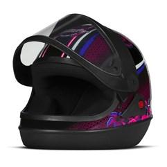 Capacete Super Sport Moto Butterfly Brilhante Preto