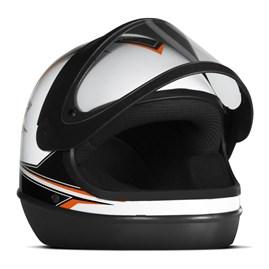 Capacete Super Sport Moto Fundo Branco