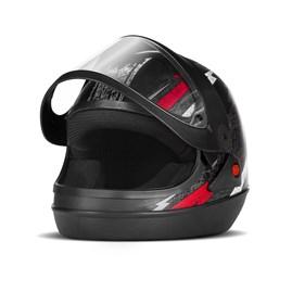 Capacete Super Sport Moto Fundo Preto