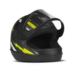 Capacete Super Sport Moto Preto/Amarelo