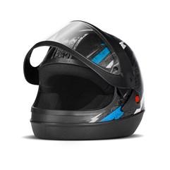 Capacete Super Sport Moto Preto/Azul