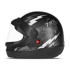Capacete Super Sport Moto Preto/Prata