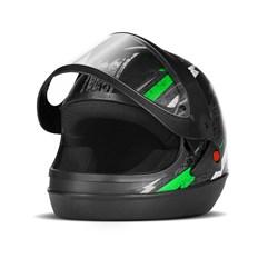 Capacete Super Sport Moto Preto/Verde