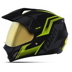 Capacete TH-1 Vision New Adventure Amarelo VIS. DOURADA