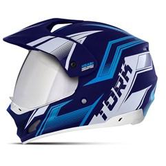 Capacete TH-1 Vision New Adventure Azul VIS. ESPELHADA