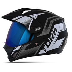 Capacete TH-1 Vision New Adventure Viseira Iridium Azul
