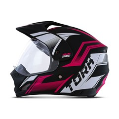 Capacete Trilha Pro Tork TH1 Vision New Adventure Rosa