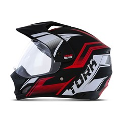 Capacete Trilha Pro Tork TH1 Vision New Adventure Vermelho