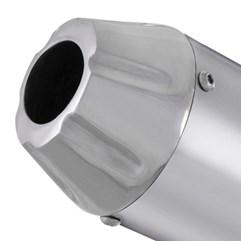 Escapamento Aluminium SS Oval YBR 125 2000 Até 2008 Super Adventure