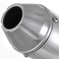 Escapamento Aluminium SS Redondo Titan/Fan 150 ESD 2009 Até 2014/Titan/Fan 160/CG Start 160 Super Adventure