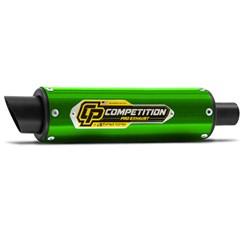 Escapamento Pro Tork Competition Titan 150 e Fan 150 2009 à 2013 Fan 125 2009 à 14 Verde