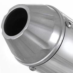 Escapamento Roncar Aluminium SS Redondo YBR 125 Factor 2009 até 2013