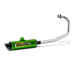 Escape Pro Tork Competition Titan 125 Esd 2000 A 2004 (Cromado) Verde