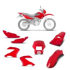 Kit Carenagem 5 Peças Pro Tork NXR 125 e 150 Bros 2003 à 2008