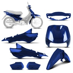 Kit Carenagem Completo Biz 100 Verde Riviera 2000