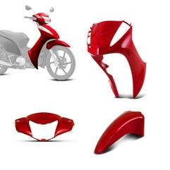 Kit Carenagem Honda Biz 125 3 Peças 2011 à 2013