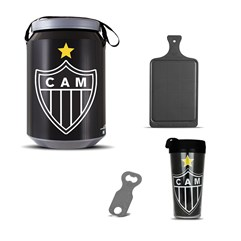 Kit Churrasco Cooler Copo Times + Abridor + Tábua Atlético Mineiro