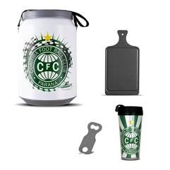 Kit Churrasco Cooler Copo Times + Abridor + Tábua Coritiba