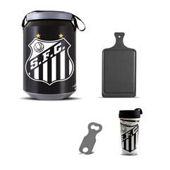Kit Churrasco Cooler Copo Times + Abridor + Tábua Santos