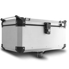 Kit Completo Baú Traseiro 56 e Bauletos Laterais Super Adventure Tiger 800 2014 à 2018 Alumínio Escovado