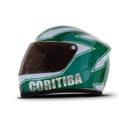 Kit Coritiba Cooler Térmico Mini Capacete E Copo Térmico