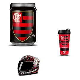 Kit Flamengo Cooler Térmico Mini Capacete e Copo Térmico