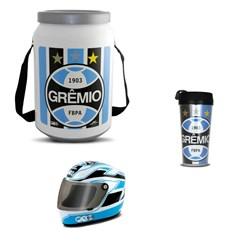 Kit Grêmio Cooler Térmico Mini Capacete e Copo Térmico
