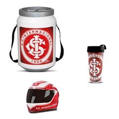 Kit Internacional Cooler Térmico Mini Capacete e Copo Térmico