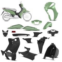 Kit Peças Plásticas Completo Biz 125 2011 Até 2013 Verde Metálico 2011