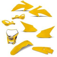 Kit Peças Plástico CRF 230 2008 Até 2014 + Protetor 788 + Farol Pro Tork