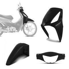 Kit Plástico Carenagem 3 Peças Honda Biz 125 2006 Até 2010 Pro Tork