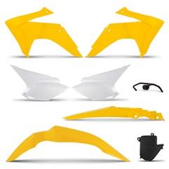 Kit Plástico CRF 230 2008 Até 2018 Pro Tork Amarelo