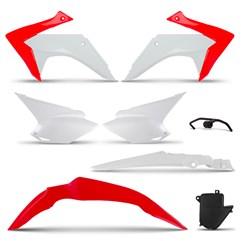 Kit Plástico CRF 230 2008 Até 2018 Pro Tork Branco/Vermelho
