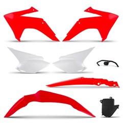 Kit Plástico CRF 230 2008 Até 2018 Pro Tork Vermelho