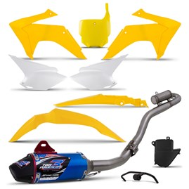 Kit Plástico CRF 230 2015 Com Number Plate + Powercore 3 Azul Pro Tork