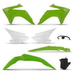 Kit Plástico CRF 230 2015 Green Pro Tork Com Suporte