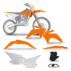 Kit Plástico CRF 230 2015 Orange Pro Tork Com Suporte