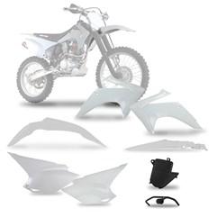 Kit Plástico CRF 230 2015 White Pro Tork Com Suporte