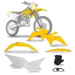 Kit Plástico CRF 230 2015 Yellow Pro Tork Com Suporte