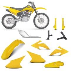 Kit Plástico Crf 230f 2008 À 2014 Amarelo + Pro. Bengala, Quadro, Motor (Alumínio)