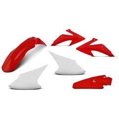 Kit Plástico Crf 230f 2008 À 2014 Branco - Vermelho + Protetores + Number Plate