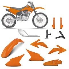 Kit Plástico Crf 230f 2008 À 2014 Laranja + Pro. Bengala, Quadro, Motor (Alumínio)