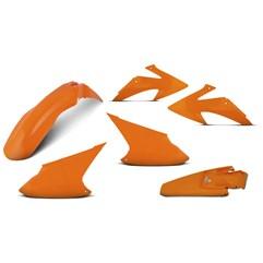 Kit Plástico Crf 230f 2008 À 2014 Laranja + Protetores + Bloqueador + Capa + Manopla