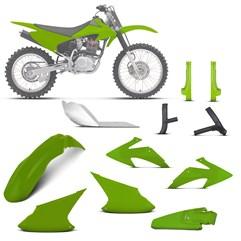 Kit Plástico Crf 230f 2008 À 2014 Verde + Pro. Bengala, Quadro, Motor (Alumínio)