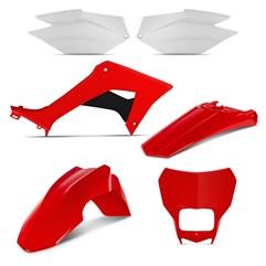 Kit Plástico CRF 250F 2019 Pro Tork Vermelho