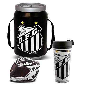 Kit Santos Cooler Térmico Mini Capacete e Copo Térmico