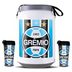 Kit Torcedor Grêmio Cooler E Copos Grêmio