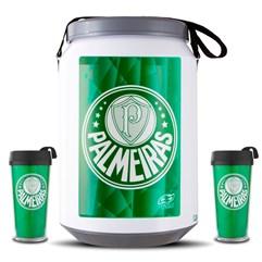 Kit Torcedor Palmeiras Cooler e Copos Palmeiras