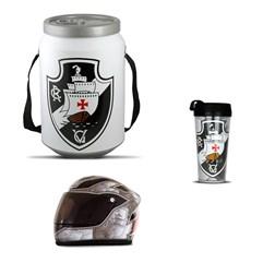 Kit Vasco da Gama Cooler Térmico Mini Capacete e Copo Térmico