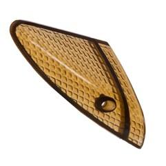 Lente do Pisca Dianteiro Biz 100 98/05 ProTork Amarelo Fumê